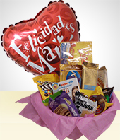 Baskets - Combo Sweet Mom  : Delicius Chocolate Basket + Balloon