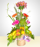 Birthday - Fruits Basket Arrangement