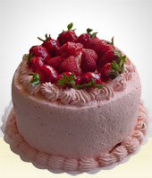 Cakes - Strawberry Cake  - 20 Servings