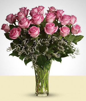 Send Flowers to :  Bouquet of Pink Roses