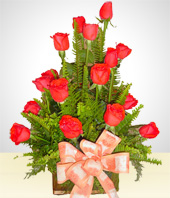 Get well - Liberty: 18 Roses Arrangement