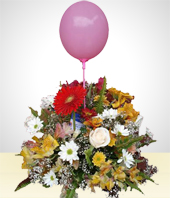 Birthday - Bouquet with Balloon -II