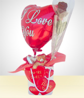 Love and Romance - Chocolate Heart Vase