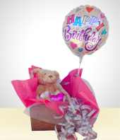 Balloons - Teddy Bear in a Basket