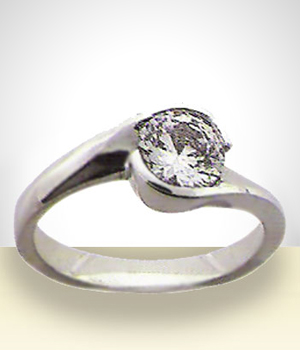Jewelry - Silver Ring with zircon strone