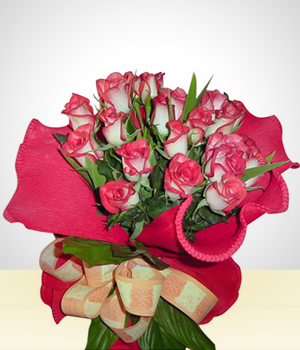Send Flowers to :  24 Roses Bouquet