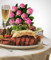 Lunch and Dinner - Special Offer: Buffet Dinner + 12 Roses