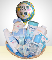 Birth - Welcome Baby Gift Bath Basket- Boys