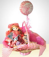 Birth - Welcome Baby Gift Bath Basket- Girls