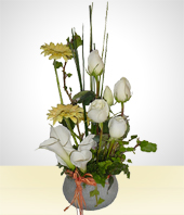 White Roses - The Pureness -Elegance Bouquet