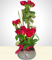 Flower Arrangements - Inspiration: 15 Roses Arrangement