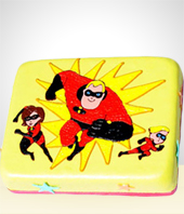 Children Birthdays - The Incredibles Birthday Cake -30 Servings