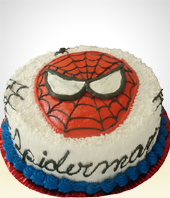 Children Birthdays - Spiderman Birthday Cake- 30 Servings
