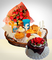 Special Combos Offer - Special Awakenings: (Breakfast - Bouquet  Cake)