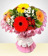 Gerbera daisies - Cheerful Bouquet