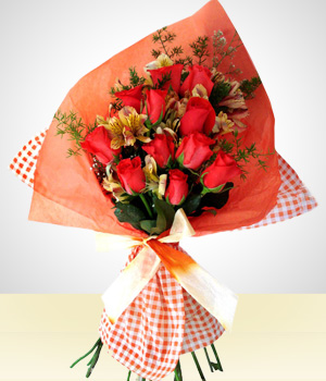 Send Flowers to :  12 Roses Bouquet