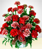 Red Illusion: Red & Pink Carnations