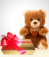 Plush Toys - Friendship Combo: Teddy + Chocolates