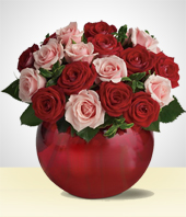 Flower Arrangements - Romantic Roses Bowl