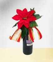 Christmas - Decorated Wine Bottle