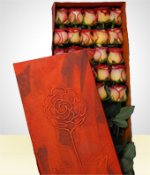 - Deluxe Box with 24 Roses