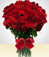 Condolences - Luxury Bouquet of  200 Roses