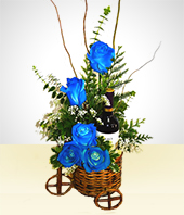 Thank you - Blue Roses Bouquet