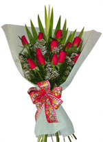 Flowers - Bouquet of 12 Roses