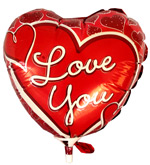 Balloons - Medium Metallic Balloon - I Love You