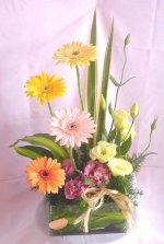 Flower Arrangements - Spring Bouquet in a fishbowl