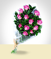 Flowers - Pink Roses Bouquet