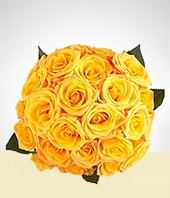 Flowers - Yellow Roses Bouquet