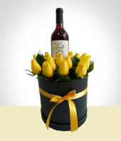 More Gifts - Box of Roses and Wine