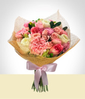 Carnations - Pink Bouquet