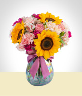 Flower Arrangements - Special Arrangement of Sunflowers