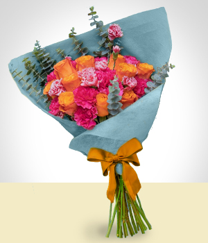 Send Flowers to :  Cheerful Surprise Arrangement