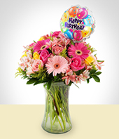 Gerbera daisies - Arrangement of love with gerberas