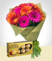 Chocolates - Sweet Gerberas