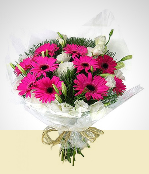 Love and Romance - Gerberas And Roses