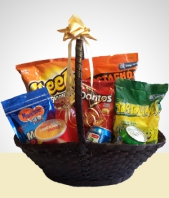 Gifts for Men - Basket of snacks