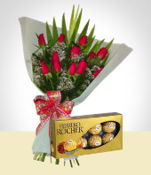 More Gifts - Chocolates +  Flowers