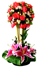 Lilies - Roses Arrangement - Bonsai
