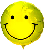 Balloons - Big Metallic Balloon - Happy Face