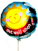 Balloons - Big Metallic Balloon - Get Well Soon