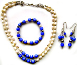 Jewelry - Set of eye of tiger with pearls