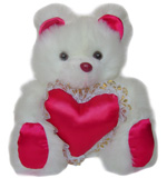 Bears & Balloons - Cute Teddy Bear with heart
