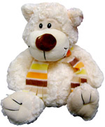 Plush Toys - White bear with scarf