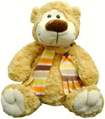 Plush Toys - Brown bear with scarf