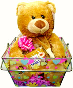 Plush Toys - Bear in basket